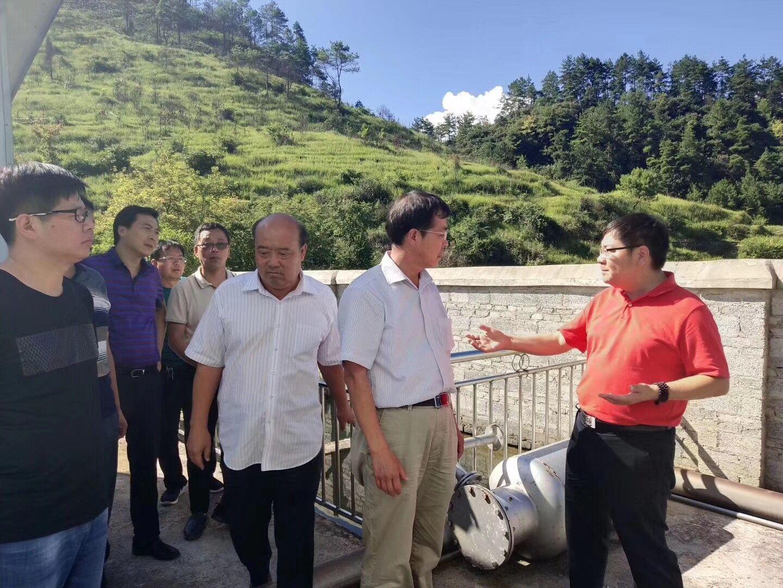 7月25日雄安新区领导考察贵阳农村小型污水运行情况!